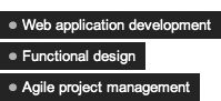 ? Web application development ? Functional design ? Agile project management