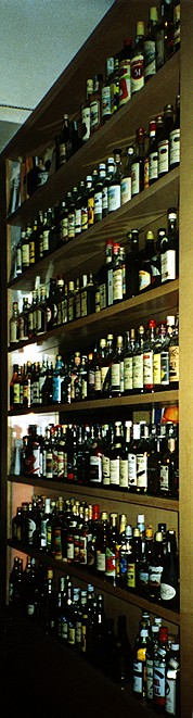 The impressively large rum collection at Comida y Ron, Vienna