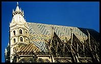 Vienna: the main cathedral, with its patterned roof tiles