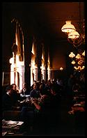 the dark, welcoming interior of Cafe Sperl, Vienna