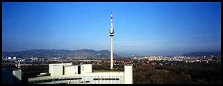 Vienna: the view from the office where I worked at the UN
