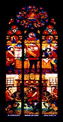 Vienna: the stained glass window of one of the churches