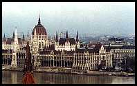 Budapest: a stereo photo of the parliament building