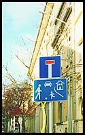 my favourite road sign: ball games allowed, in Luxembourg