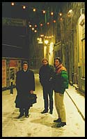 Peter, Angus and Takeshi on the way home from Chiggeri, rue du Nord, Luxembourg