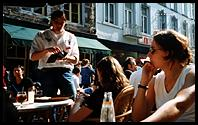 Maastricht: sitting outside the Falstaff in summer, with a glass of Wickse Witte